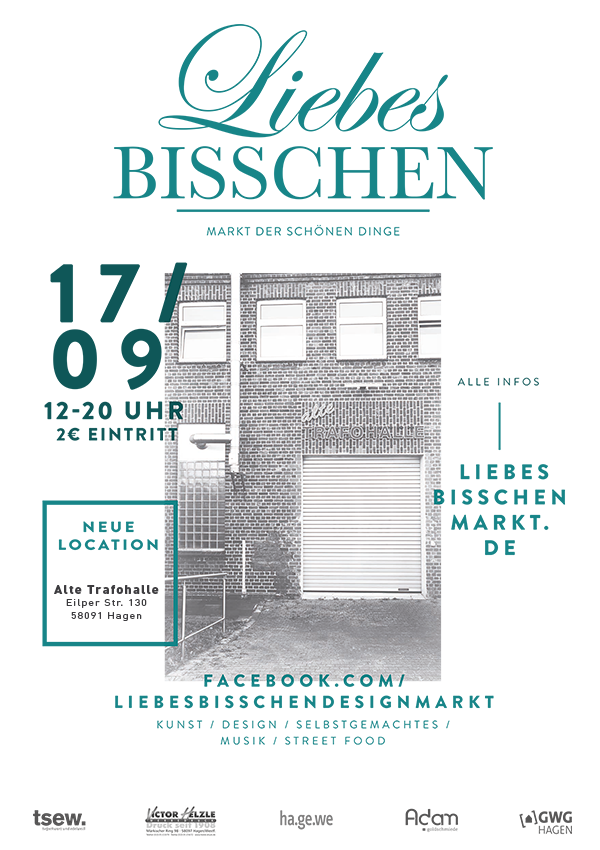 Liebes BISSCHEN – 17/09/2016 – alte Trafohalle in Eilpe