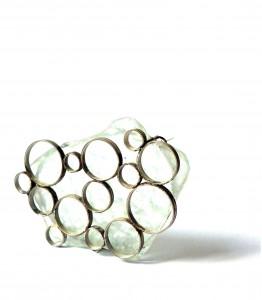 Gabriele Hinze - Glas Fundstück Silber Stahlnadel
