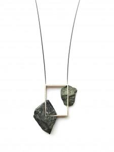fragment - silber grauwacke stahlseil