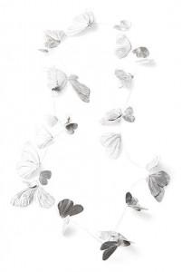 Falterkette Iris Merkle - Foto Iris Merkle - Silber weiß gesiedet
