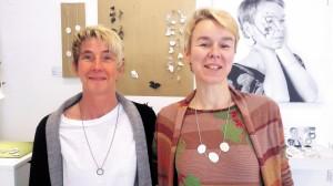Ariane Hartmann und Jessica Buzkowski - jetzt kanns losgehen.