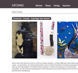 Blogbeitrag auf GATZANIS von Nicole Carina Fritz