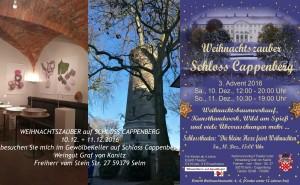 Weihnachtszauber auf SCHLOSS CAPPENBERG – 3. Advent Wochenende