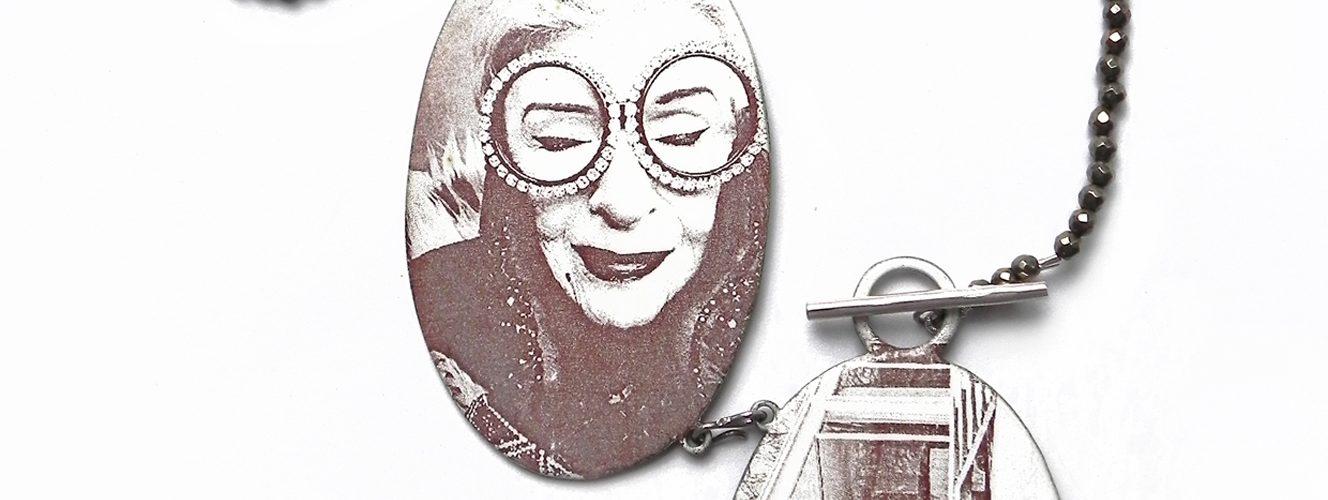Auf bestempeltes Silber emaillierte Fotos
